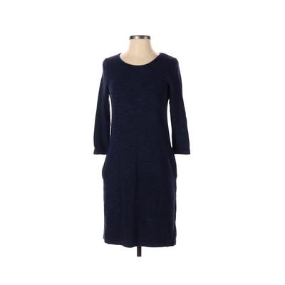 Paraphrase - Paraphrase Casual Dress - Sweater Dress: Blue Solid Dresses - Used - Size Small