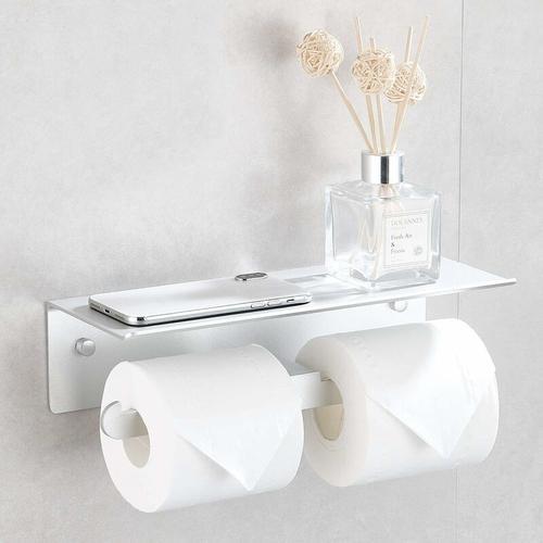 Betterlife - Selbstklebende Toilettenpapier Tür Doppeltür Rollen Toilettenpapier ohne Bohrung für