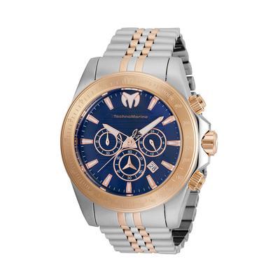 TechnoMarine Manta Grand Men's Watch - 47mm Steel Rose Gold (TM-220154)