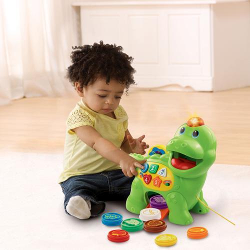 Vtech Lernspielzeug Fütter-mich Dino bunt Kinder Lernspiele