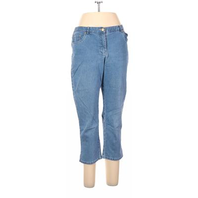 Hearts of Palm Woman Jeans - High Rise: Blue Bottoms - Size 12 Petite