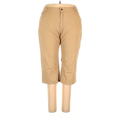 Woman Within Jeans - Low Rise: Tan Bottoms - Size 20
