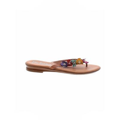 Italian Shoemakers Footwear - Italian Shoemakers Footwear Flip Flops: Tan Solid Shoes - Size 10