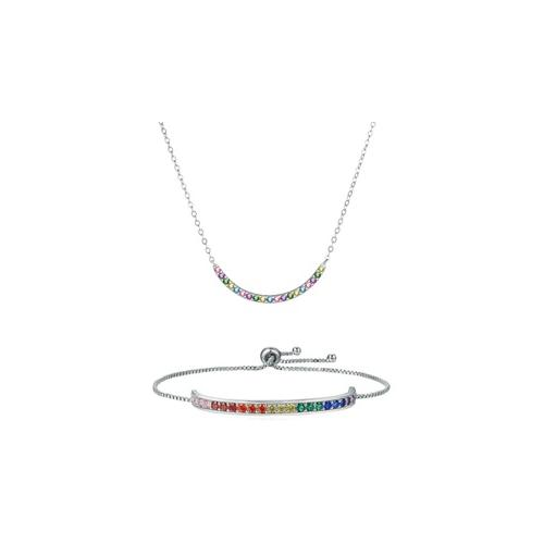 Schmuck mit Swarovski®-Kristallen: 1x Halskette + 1x Amband