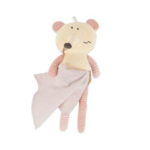 Baby Kuscheltier Spieltier Maus ca. 30cm Plüsch Greifling Baby Schmusetier Kind Kuscheltiere beige