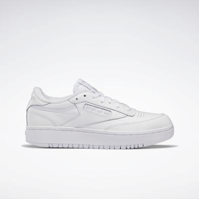 Reebok Women's Club C Double Shoes in Ftwr White/Ftwr White/Cold Grey 2 Size 9.5 - Court Shoes