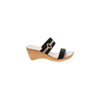 Italian Shoemakers Footwear - Italian Shoemakers Footwear Wedges: Black Shoes - Size 8