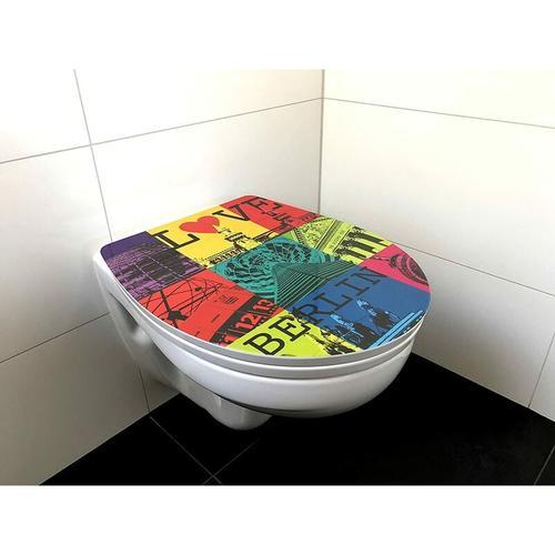 WC-Stitz Toilettendeckel Toilettensitz Love Berlin