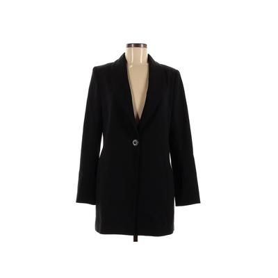 Woman Blazer Jacket: Black Solid Jackets & Outerwear - Size 8