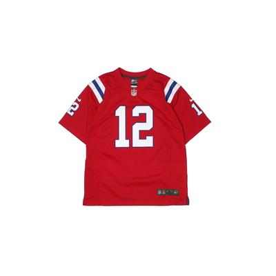 NFL Short Sleeve Jersey: Red Solid Sporting & Activewear - Size Large