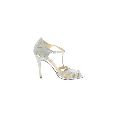 Betsey Johnson Heels: Silver Shoes - Size 8