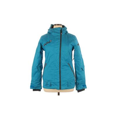 Ride Snowboards Snow Jacket: Blue Solid Activewear - Size 11