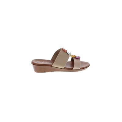 Italian Shoemakers Footwear - Italian Shoemakers Footwear Sandals: Tan Solid Shoes - Size 10