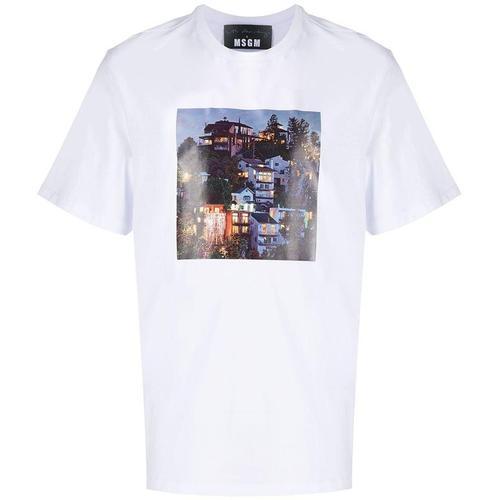 MSGM T-Shirt mit Foto-Print
