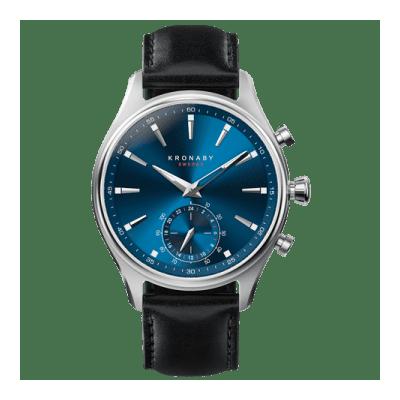 Kronaby - Sekel 41 Mm Hybrid Smartwatch Blue Black Leather