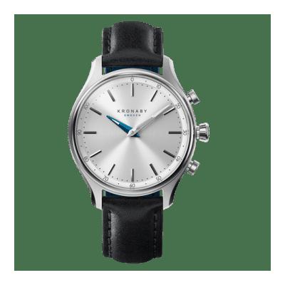 Kronaby - Sekel 38 Mm Hybrid Smartwatch Silver Black Leather