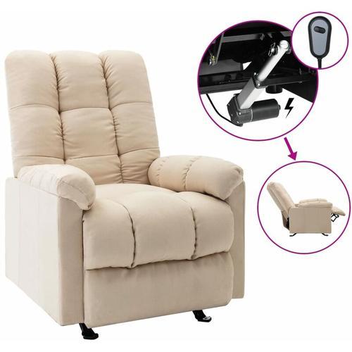 Elektrischer Sessel Creme Stoff