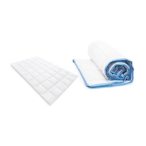 Bettdecke: Weiß-Blau / 135 x 200 cm