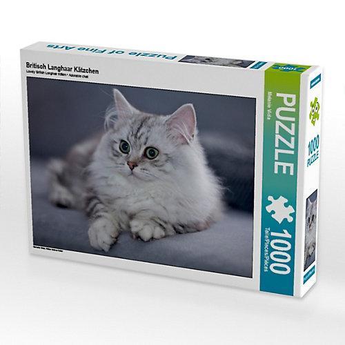 Britisch Langhaar Kätzchen Foto-Puzzle Bild von Melanie Viola Puzzle