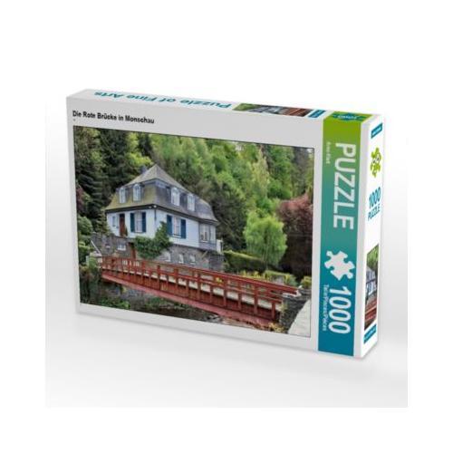 Die Rote Brücke in Monschau Foto-Puzzle Bild von Arno Klatt Puzzle