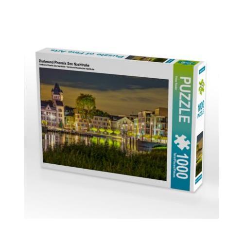 Dortmund Phoenix See Nachtruhe Foto-Puzzle Bild von Peter Roder Puzzle