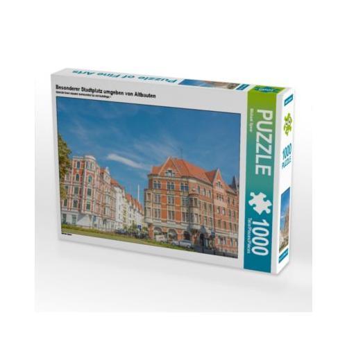 Besonderer Stadtplatz umgeben von Altbauten Foto-Puzzle Bild von Michael Speer Puzzle