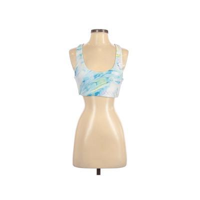 Betsey Johnson Sports Bra: Blue Print Activewear - Size Small