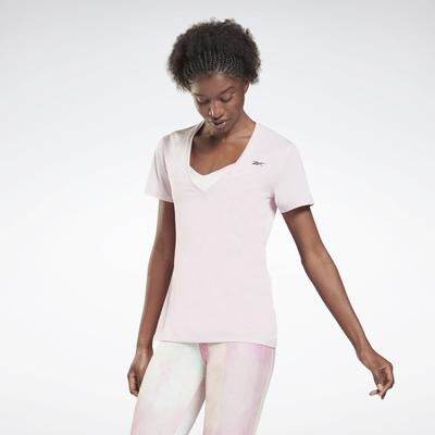 Reebok Women's Activchill Athletic T-Shirt in Frost Berry Size L - Training Clothing