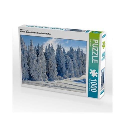 Winter. Zauberhafte Schneelandschaften Foto-Puzzle Bild von Rose Hurley Puzzle