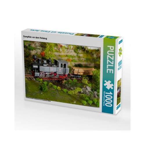 Dampflok vor dem Holzzug Foto-Puzzle Bild von Anneli Hegerfeld-Reckert Puzzle