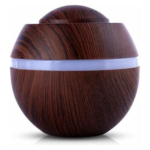 Bares - 500ML Mini Luftbefeuchter Ultraschall Diffusor Holzmaserung Aromatherapieöle Luftbefeuchter