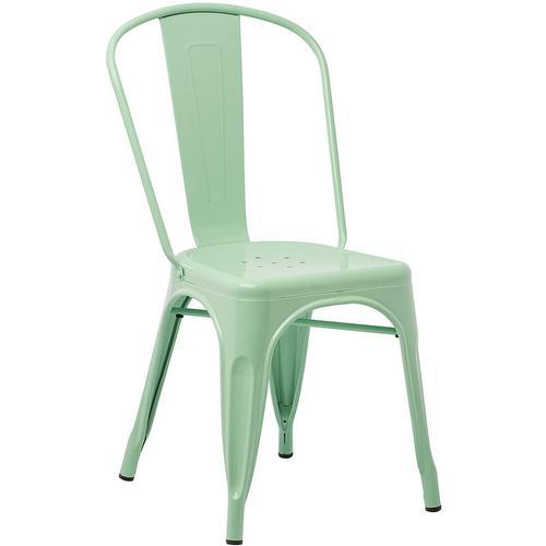 Pack 2 Stühle LIX Stahl Grün Minze - Grün Minze - Sklum