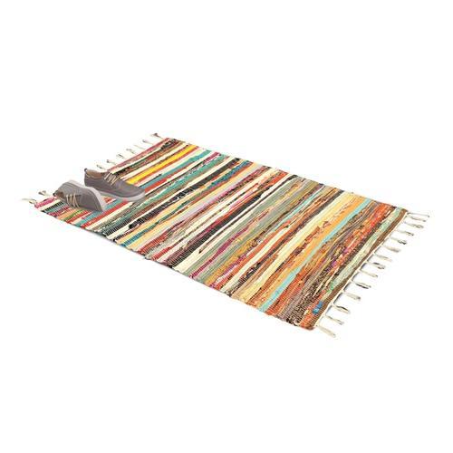 Rechteckiger Chindi-Teppich: 60 x 120 cm
