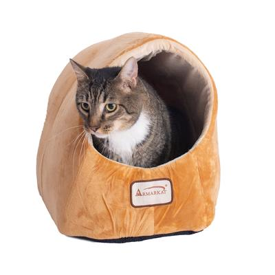 Cat Pet Small Dog Bed Cave Shape by Armarkat in Brown Ivory