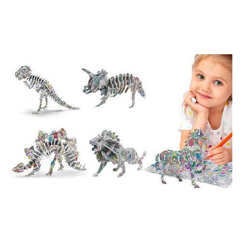 3D-Puzzle: 4er-Set / Tiere und Raubtiere