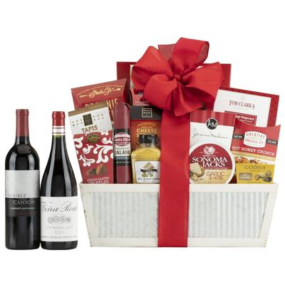 90 Point Rustic Farmhouse Wine Gift Basket
