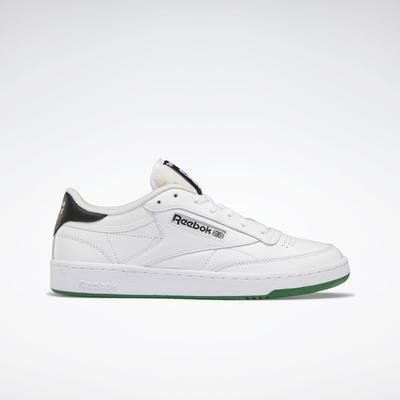 Reebok Unisex Human Rights Now! Club C 85 Shoes in Ftwr White/Chalk/Vector Red Size M 15 / W 16.5 - Lifestyle Shoes