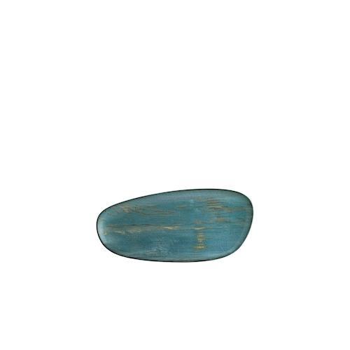 6x Speiseteller Essteller Servierplatte Platte Geschirr oval 36cm Bonna Madera Mint Vago Platte (VE:6)