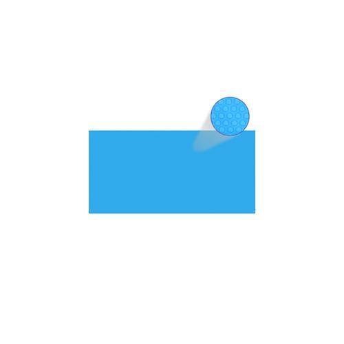 Rechteckige Pool-Abdeckung PE Blau 732 x 366 cm