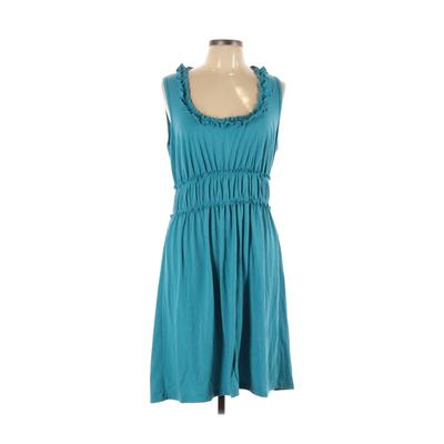 Sammy Casual Dress - A-Line: Blue Solid Dresses - Used - Size Large