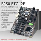 B250 Carte Mère Minière 12 GPU B...