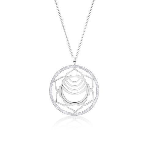 Halskette Sakralchakra Chakra Kristalle Silber Nenalina Silber