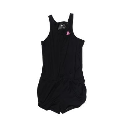 Reebok Romper: Black Solid Skirt...