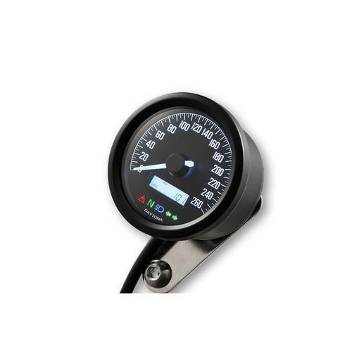DAYTONA Corp. Digitaler Tacho, VELONA 2, bis 260 Km/h, schwarz