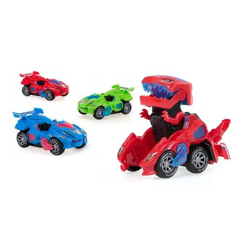 Dinosaurier-Auto: Rot + Grün/2