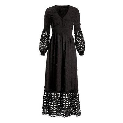 Boston Proper - Mixed Media Lace Dress - Black - Small