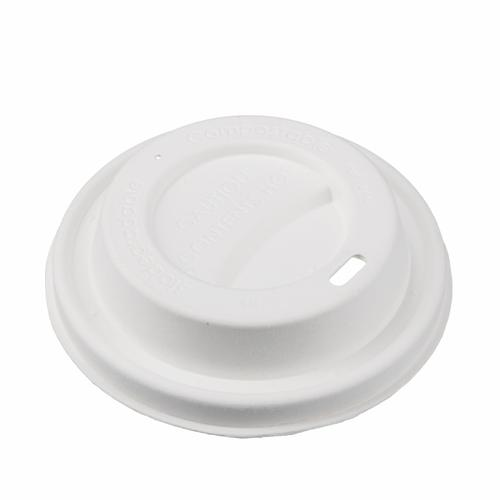 BIO Zuckerrohr Deckel für Kaffee to go 90mm - 500 Stück