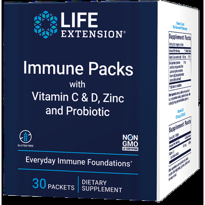 Immune packetss with Vitamin C & D, Zinc and Probiotic, 30 packets