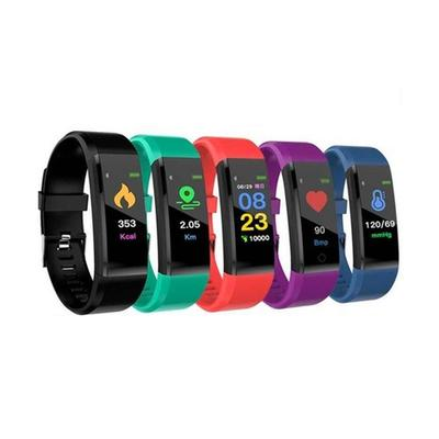 Smart Bracelet with Health Monitor: Purple/Two