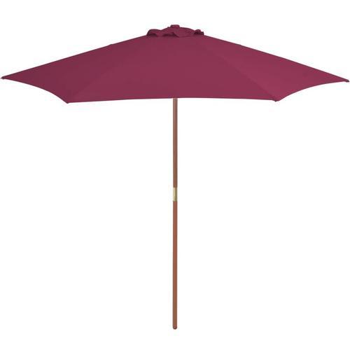 Betterlife - Sonnenschirm mit Holz-Mast 270 cm Bordeauxrot
